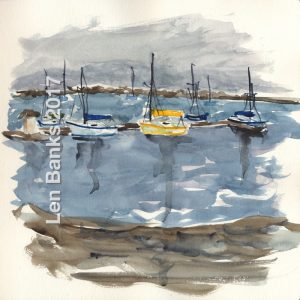 Docked Sail Boats - SOLD